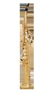 half curved soprano sax  PEARL GOLD